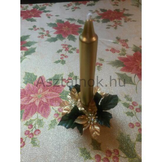 Mikulásvirág gyertyagyűrű arany
