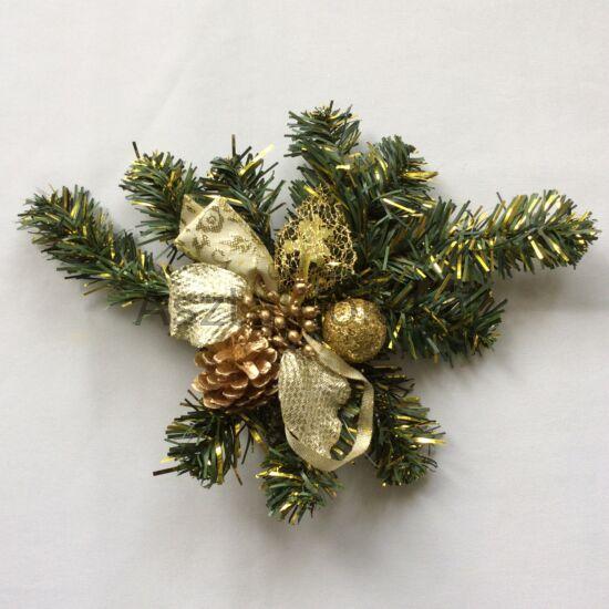 Ilex karácsonyi asztaldísz arany