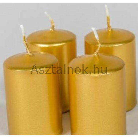 Arany metál gyertya 4 db-os készlet