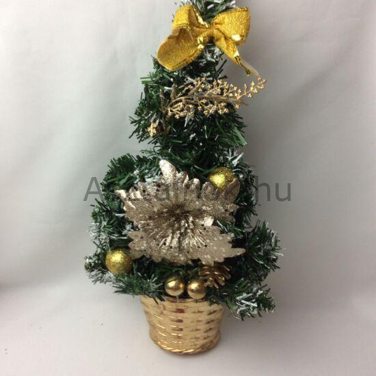Arany dekor karácsonyfa