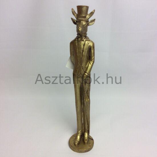 Arany rénszarvas figura
