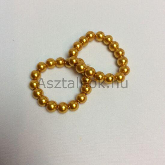 Aranygyöngy  szalvétagyűrű készlet