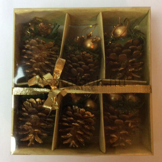 Arany toboz karácsonyi dekoráció