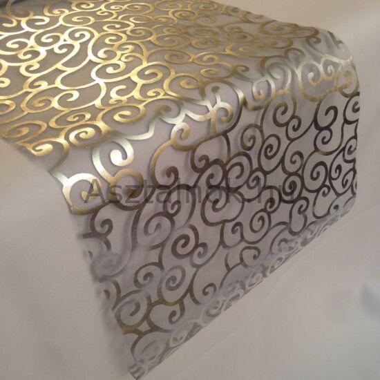 Angyalhaj organza asztali futó ezüst