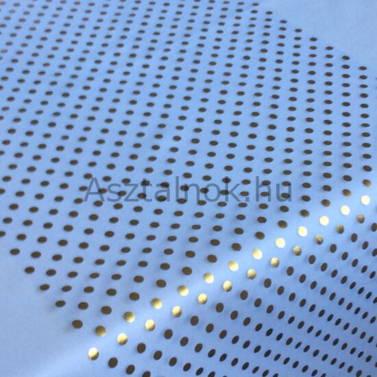 Konfetti organza asztali futó fehér-arany