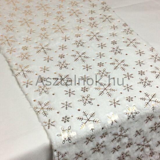 Hópihe szőrme asztali futó fehér