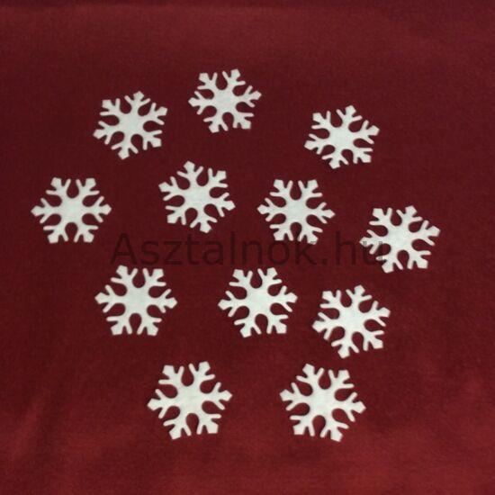 Hópehely filc dekoráció készlet