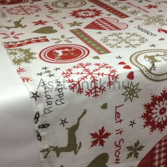 Advent asztali futó fehér