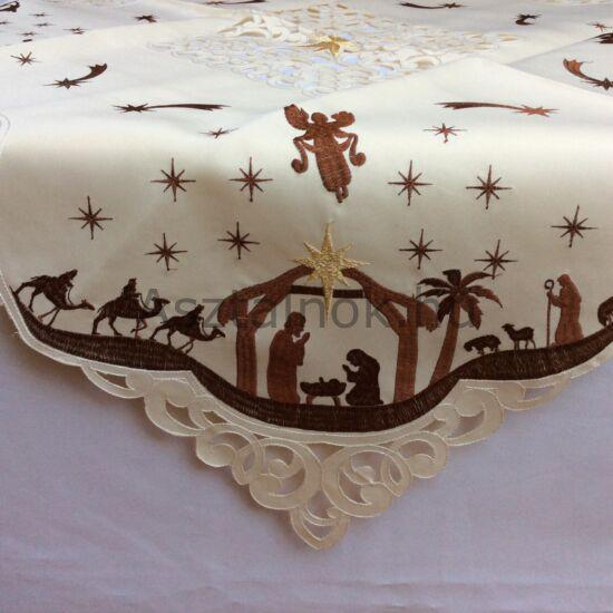 Betlehem karácsonyi asztalközép/napron terítő