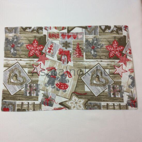 Mézi karácsonyi textil tányéralátét