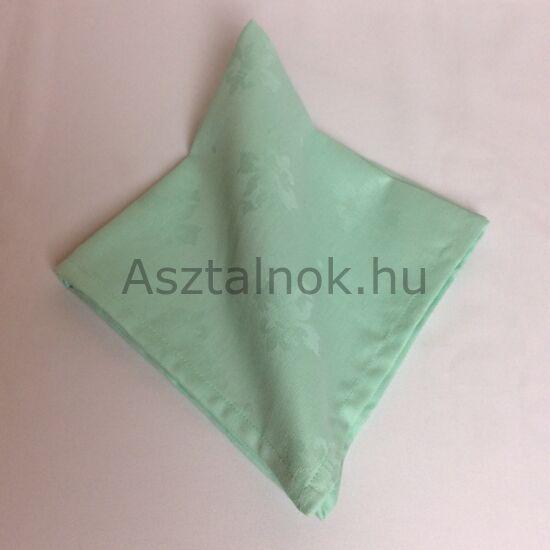 Mentazöld liliom damaszt szalvéta