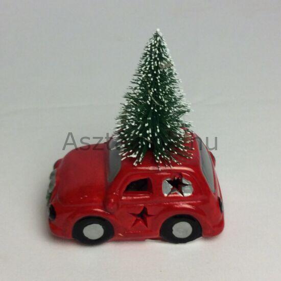 piros autó ledes karácsonyi dekoráció