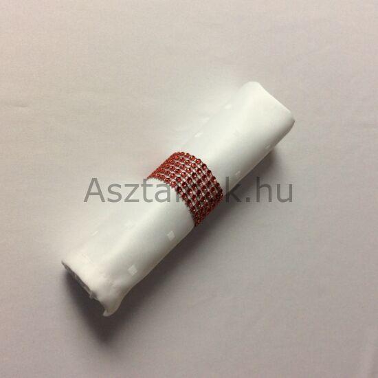 Strassz szalvétagyűrű készlet piros