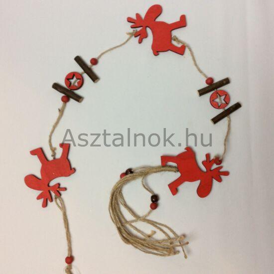 Rénszarvas girland dekoráció