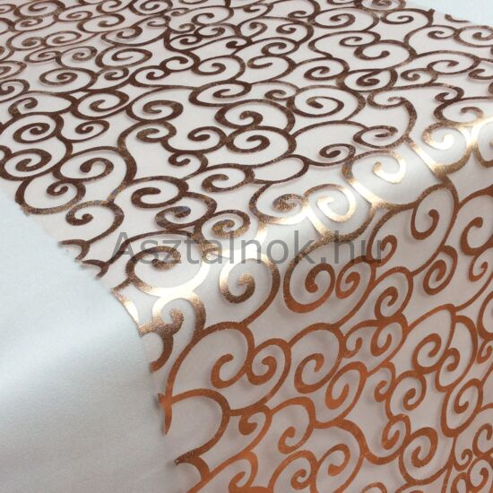 Angyalhaj organza asztali futó rosegold