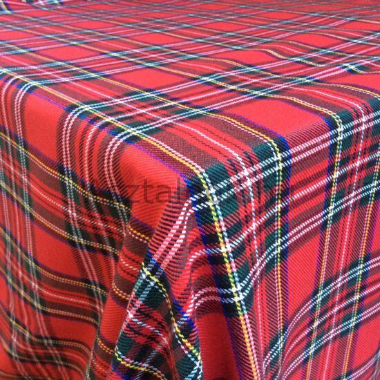 Skótkockás karácsonyi asztalterítő
