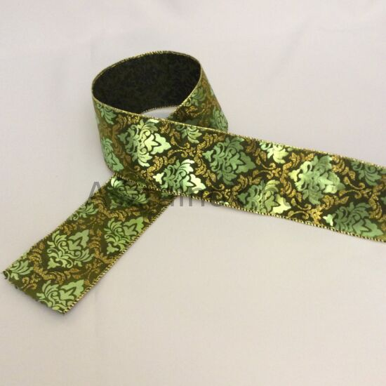 Zöld liliom dekor szalag