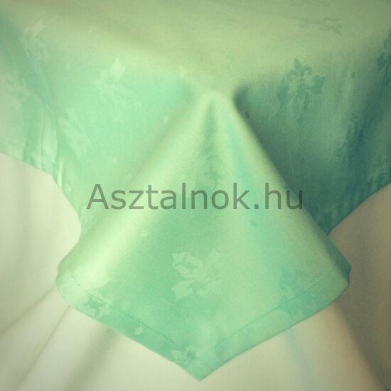 Mentazöld liliom damaszt terítő