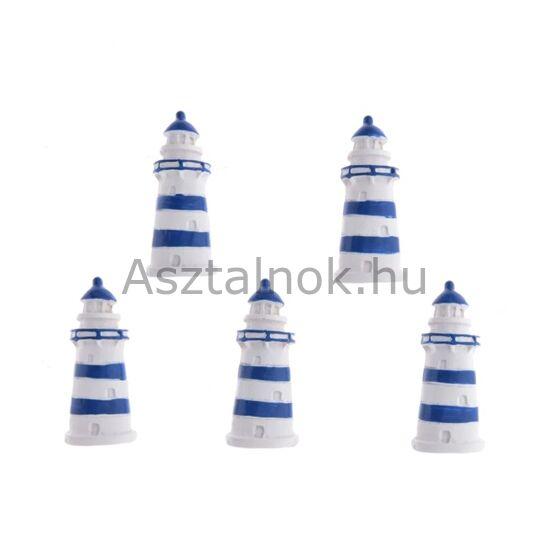 Világítótorony dekorációs csomag kék