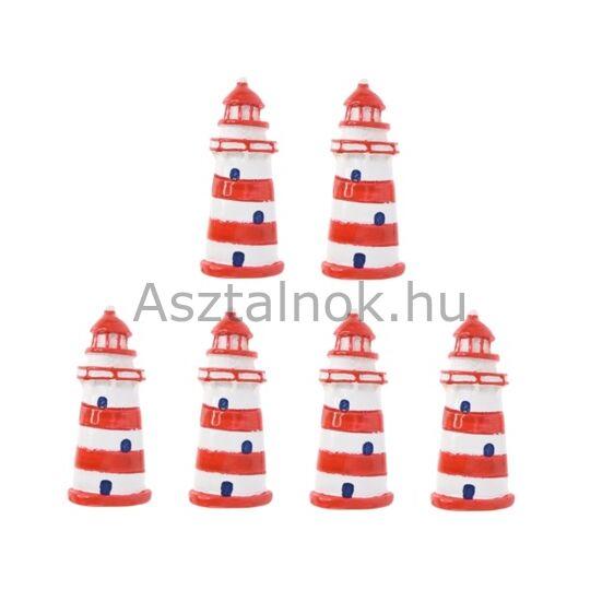 Világítótorony dekorációs csomag piros