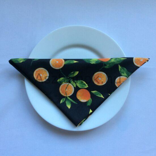 narancs mintás textil szalvéta
