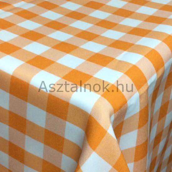 Narancs fehér kockás asztalterítő