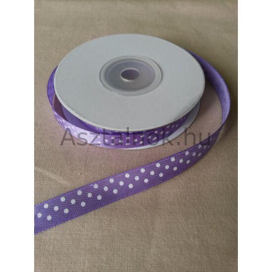 Pöttyös dekor szalag lila