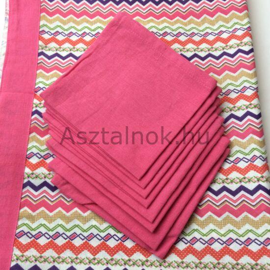 Cikk-cakk asztalterítő csomag -rózsaszín