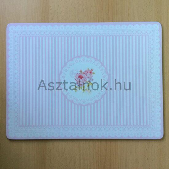 Rózsacsokor parafa tányéralátét készlet