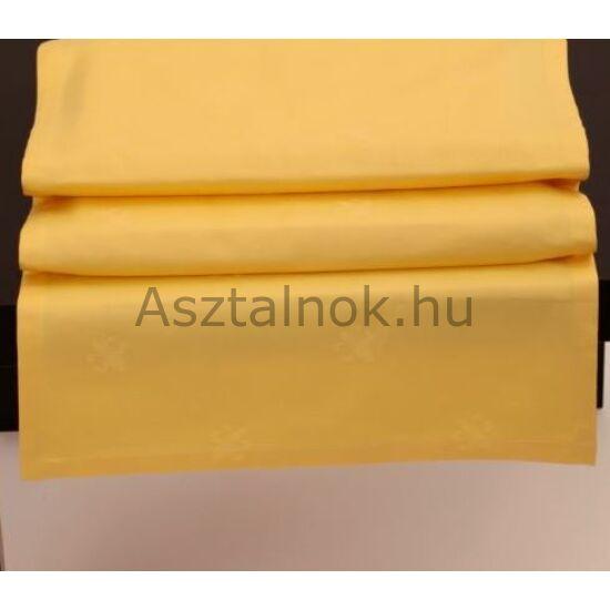 Sárga liliom damaszt asztali futó